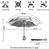 Monstleo-Inverted-Umbrella-Double-Layer-Cars-Reversible-UmbrellaWindproof-UV-Protection-Big-Straight-Umbrella-for-Car-Rain-Outdoor-With-C-Shaped-Handle-and-Carrying-Bag