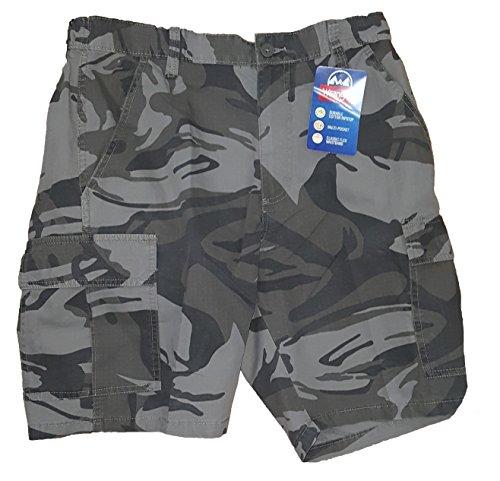 Wrangler Dark Khaki Camo Rip-Stop Cargo Shorts - 36