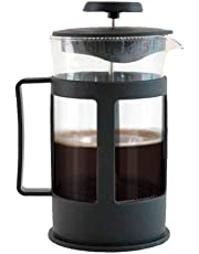 Cafetera Prensa Francesa de 1L vidrio tipo embolo french press ideal para compartir un cafe gourmet para 8 tazas … (Negro1)