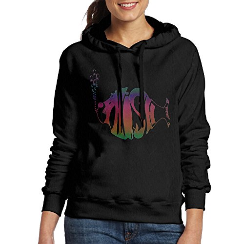 FHFHQ Women's Phish Band Hoodies Black Size M