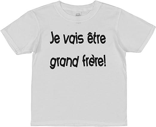 Spreadshirt Je Vais /Être Grand-Fr/ère T-Shirt Premium Enfant