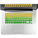 Litop Silicone Keyboard Cover Keyboard Skin Double Color Gradient Yellow to Green Series for for All MacBook Air 13