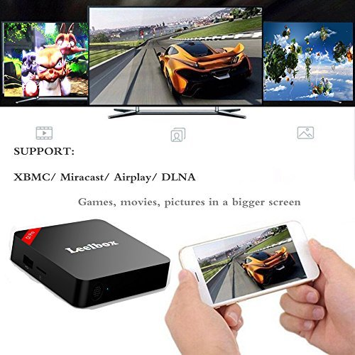 2018 Version Leelbox Q1 Android 7.1 TV Box with BT 4.0 Supporting 4K (60Hz) Full HD /H.265 /WiFi
