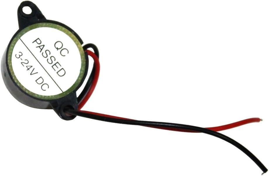 Aerzetix Piezo Summer Buzzer Für Vergessen Scheinwerfer Kontrollleuchte Blinker Akustisches Oder Vorrichtung 6 12 24 V Für Motorrad Auto Pkw Lkw Lieferwagen Auto