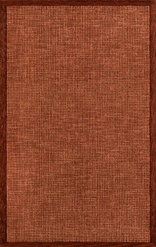 Momeni Rugs DELHIDL-65RST80A0 Delhi Collection Area Rug, 8' x 10', Rust