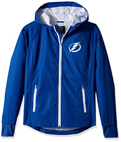 GIII For Her NHL Tampa Bay Lightning Women's Onside Kick Light Weight Full Zip Jacket, Large, ()