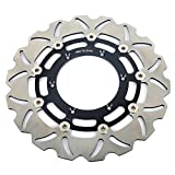 TARAZON Front Brake Disc Rotor for Suzuki DRZ400SM DRZ 400 SM SuperMotard 2005 2006 2007 2008 2009 2010 2012 2013 2014 2015 2016 (Black)