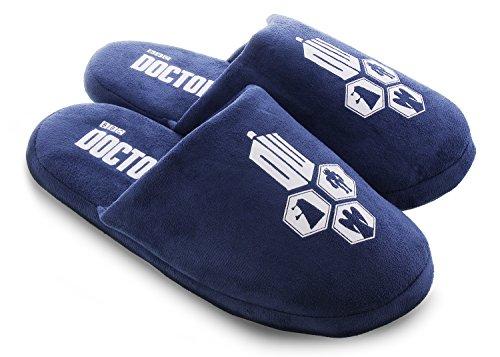 Ciabattino Medico Che Tardis Pantofole Per Adulti Blu Taglia Media 7-8