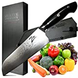ZELITE INFINITY Santoku Knife 7 Inch >> Executive-Plus Series >> Best Quality Japanese VG10 Super Steel 67 Layer High Carbon Stainless Steel, Incredible G10 Handle Full-tang Ultra-Deep 53mm Chef Blade