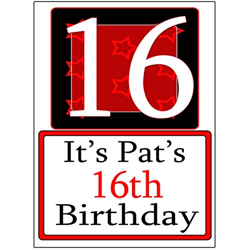 Personalized 16 Year Old Yard Sign (Each) - Customized by Partypro