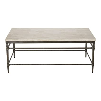 Amazon.com: Ethan Allen Vida Stone-Top Coffee Table, Small ...