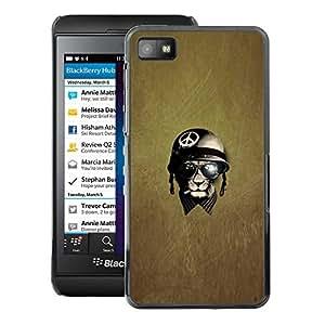 A-type Arte & diseño plástico duro Fundas Cover Cubre Hard Case Cover para Blackberry Z10 (War Peace Veteran Warrior)