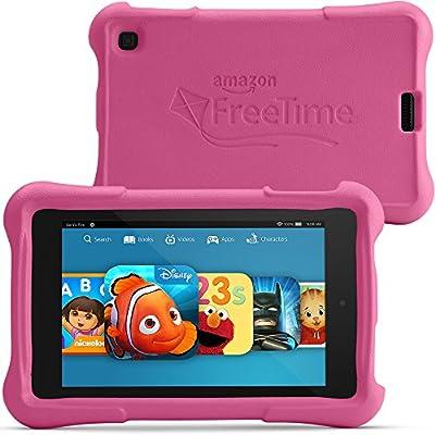 """Fire HD 6 Kids Edition, 6"""" HD Display, Wi-Fi, 8 GB, Pink Kid-Proof Case"""