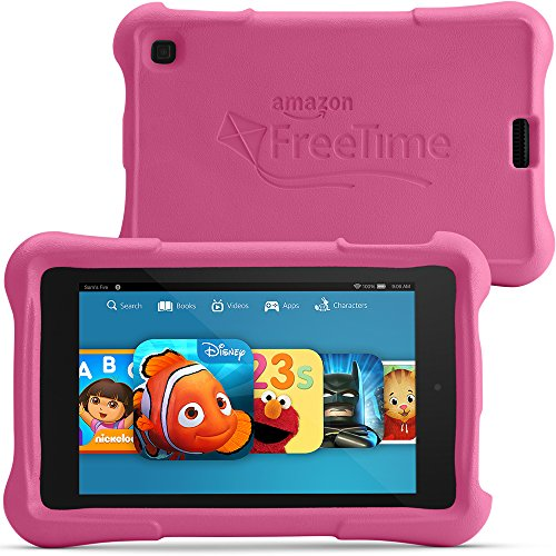 "Fire HD 6 Kids Edition Tablet, 6"" HD Display, Wi-Fi, 8 GB, Pink Kid-Proof Case"