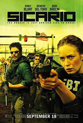 Sicario - Movie Poster Glossy Finish Thick, 8mil: Emily Blunt, Benicio del Toro, Josh