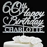BIRTHDAY CAKE TOPPER Anniversary // Custom Cake Topper - Personalized Birthday Cake Topper - Age Cake Topper - Customize Topper Birthday