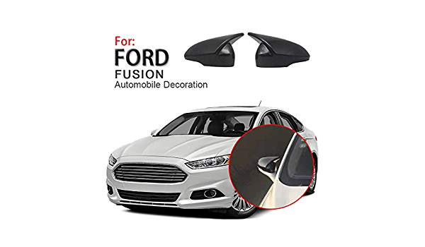 Carbon Fiber Side Door Wing Mirror Replacment Cap Cover Fit For Ford Fusion 13+