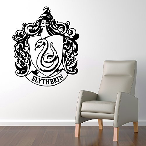 - Slytherin House Crest Hogwarts Harry Potter Decor - Wall Decal Vinyl Sticker W95 22