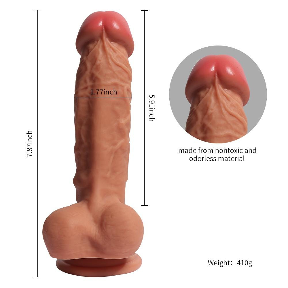 GAO GAO Réplica de lujo real del pene (1.77 (1.77 (1.77 pulgadas de diámetro), pene de simulación de silicona de doble dureza de alto grado 9b10af