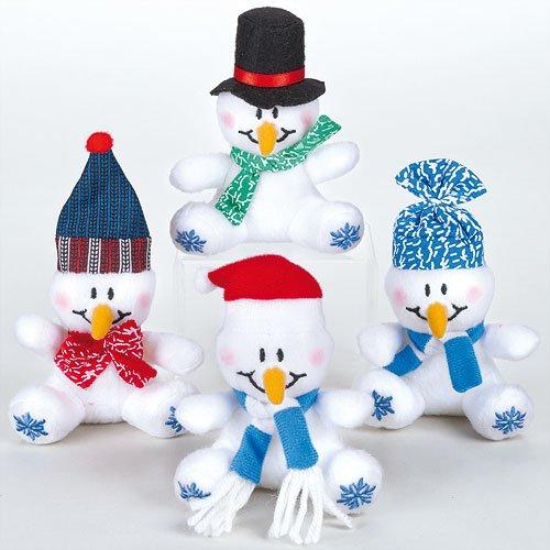 Soft Plush Snowman Mini Bean Pals Perfect Stocking Filler for Children (Pack of (Snowman Dip Set)