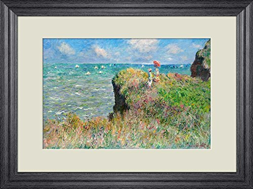 Creative 3D Visual Effect Wall Mural Cliff Walk at Pourville by Claude Monet Peel Stick Wall Decor