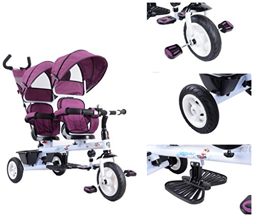 Twin trikes 3 wheels kids tricycle double seats (Tricycle Seat Double)