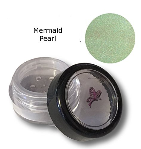 Christina's Natural Qualities All Natural Mineral Powder Mermaid Pearl Green Eye Color (Eyeshadow) - Light Sage (Eye Shadow Sage)