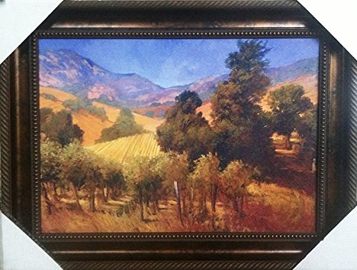 Philip Craig - Southern Vineyard Hills - High Quality Museum Print, Framed - (43.5