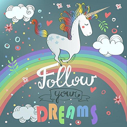 Wallmonkeys Cute Unicorn Peel and Stick Wall Decals - rainbow wall decorations
