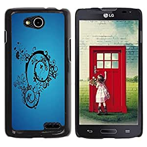 LECELL -- Funda protectora / Cubierta / Piel For LG OPTIMUS L90 / D415 -- Blue Abstract --