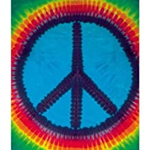 Peace Sign Tie Dye Tapestry