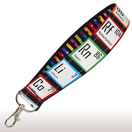Key Fob Wristlet - Periodic Table Keychain - Chemistry - Science Gift - Geek - Nerd - Purse Strap (Premier Science)