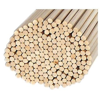 Pack of 100 Round Hardwood Dowel Rods 3/8