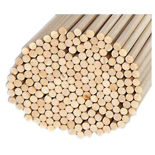 Pack of 100 Round Hardwood Dowel Rods 3/8