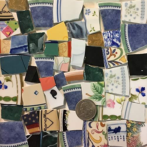 Mosaic Art & Crafts Supply ~ Colorful Mixed Pattern Tiles (B953)
