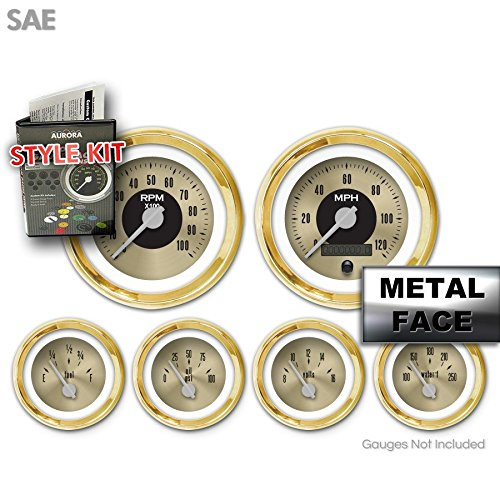Gold Face, Silver Modern Needles, Gold Bezels Aurora Instruments 2570 American Classic Style Kit