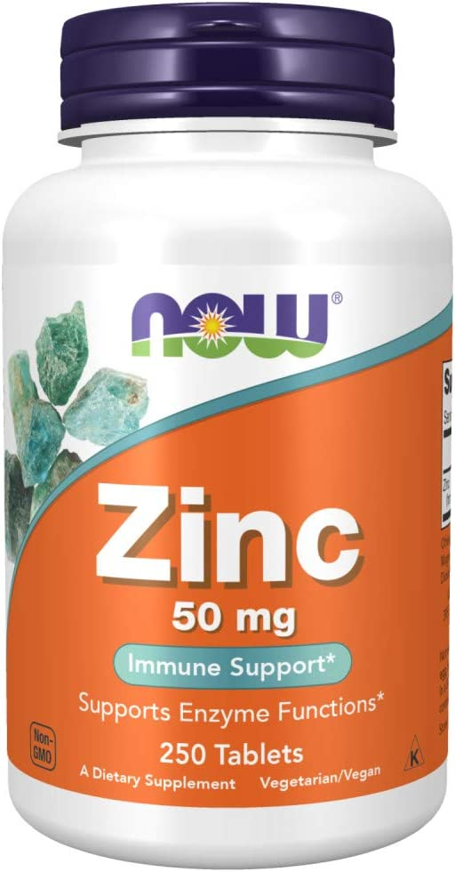 Now Foods Zinc Gluconate, White, Unflavored, 250 Count: Health & Personal Care