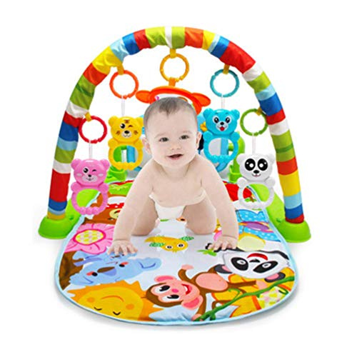 Kids Childern Piano Fitness Rack Early Education Baby Toys Baby Play Mat Piano Music Blanket Play for Intellectual Development by GEMYON