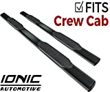 Ionic 'Pro' Series 5' Black Oval Nerf Bars 2015-2018 Dodge Ram 1500 and 2014-2018 2500 3500 Crew Cab Only Truck Side Steps (520409)