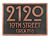 Stickley Address Plaque 12.5x8.75 - Raised Copper Coated