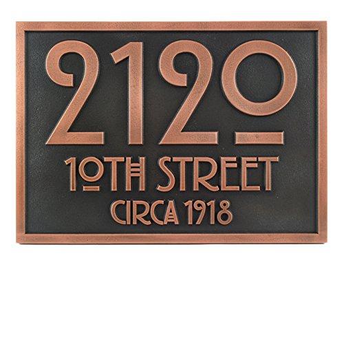 Stickley Address Plaque 12.5x8.75 - Raised Copper ()