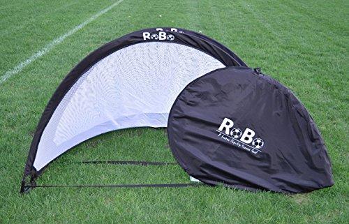 Robo 5 Footer Portable Training Soccer Goal Boxed Set (Two Goals & Bag) (Black)