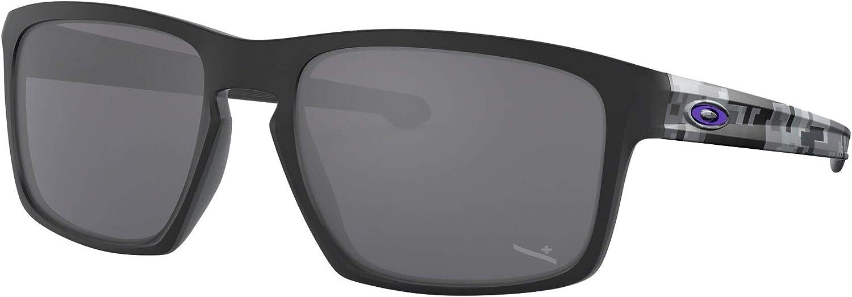 Amazon.com: Oakley Men's OO9262 Sliver Rectangular Sunglasses, Matte Black/Black Iridium, 57 mm: Shoes