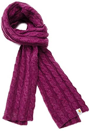 Carhartt Women's  Cable Knit Scarf,Bright Purple Heather (Closeout),One Size