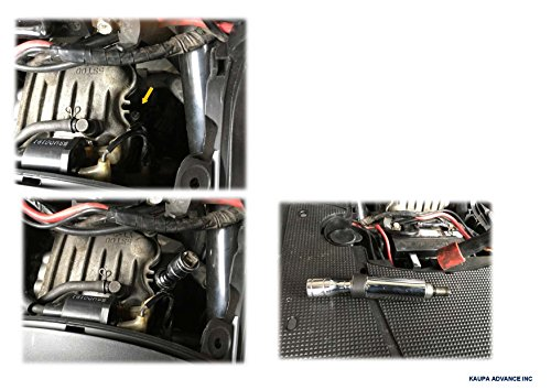 3/8'' Drive Magnetic 3pcs Swivel Spark Plug Socket Set, 5/8-Inch, Magnetic Universal Spark Plug Service Kit, 3 Piece - 4'', 6'' & 11'' Length-by Kauplus by Kaupa (Image #3)