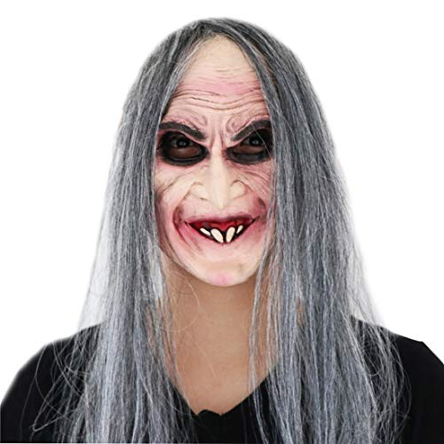 Waltz&F Halloween Long Hair Sorceress Smile mask