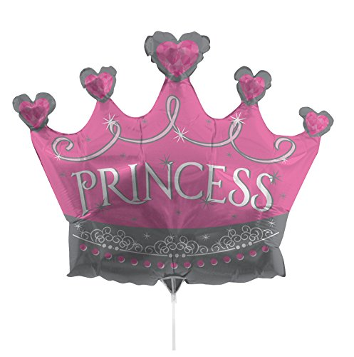 Creative Converting Air-Filled Tiara Balloon with Stick and Joiner, 36