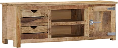 Vidaxl Mangoholz Massiv Tv Schrank Board Tisch Möbel Lowboard Fernsehtisch Fernsehschrank Sideboard Fernseher Schrank Kommode Fernsehmöbel 120x30x40cm Küche Haushalt