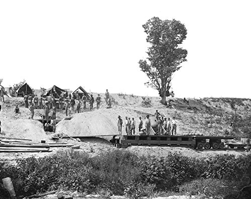 Civil War Mortar 1864 N13 Inch Mortar Nicknamed The Dictator in Position in Petersburg Virginia Photograph by David Knox September 1864 Poster Print by (18 x 24)
