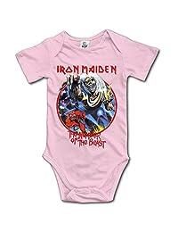 Iron Maiden Logo Nicko McBrain Baby Onesie Cute